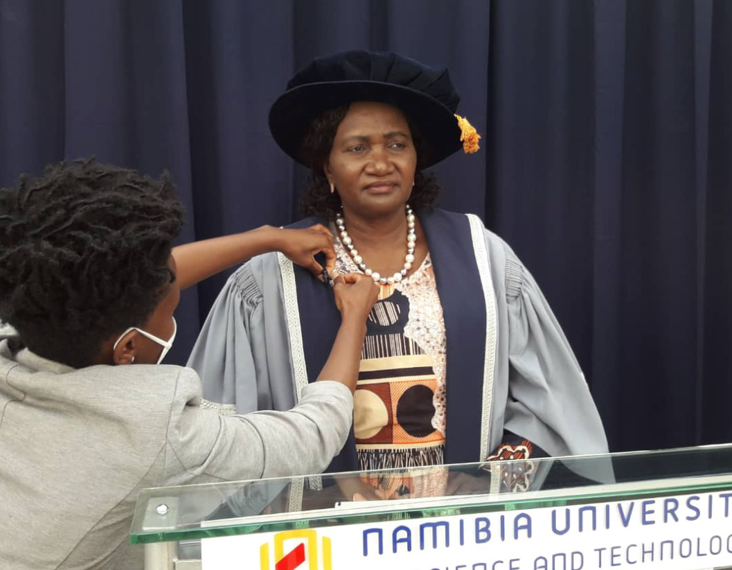 Hon Dr Itah Kandjii-Murangi, Minister of Higher Education, Technology and Innovation, pictured behind the scenes.