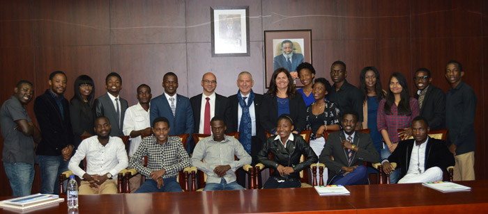 The Presidential Advisor of Youth Matters and Enterprise invited the NSEUV Team to Statehouse on the 17 June 2016. The team met Dr. John Steytler, Economic Advisor of the President of the Republic of Namibia.